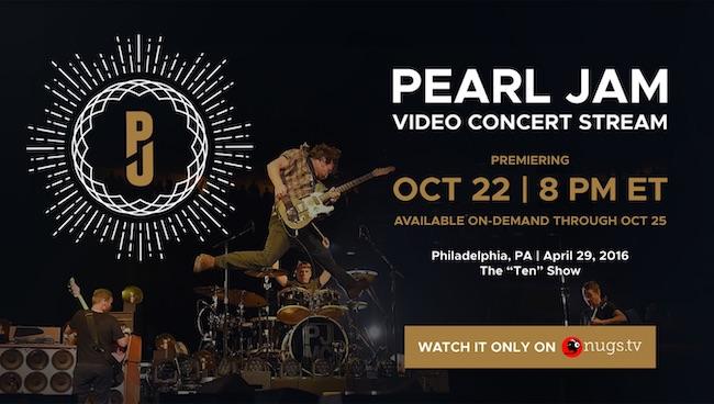 pearl jam video concerto streaming