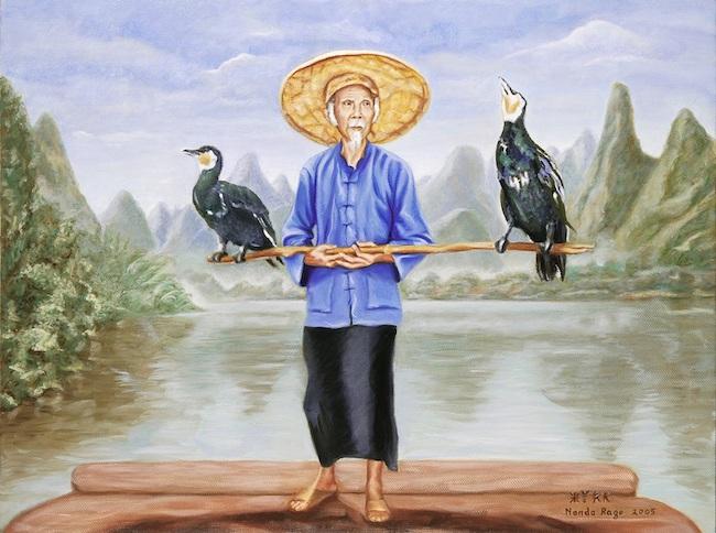 pescatore cormorani nanda rago