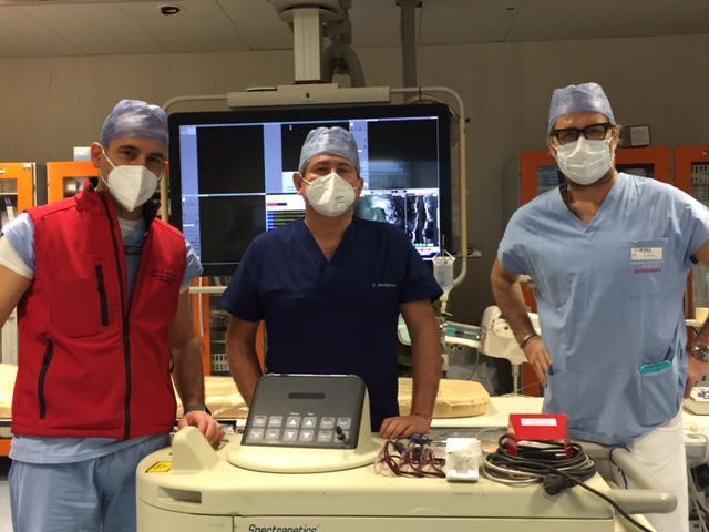 equipe ha realizzato langioplastica a laser