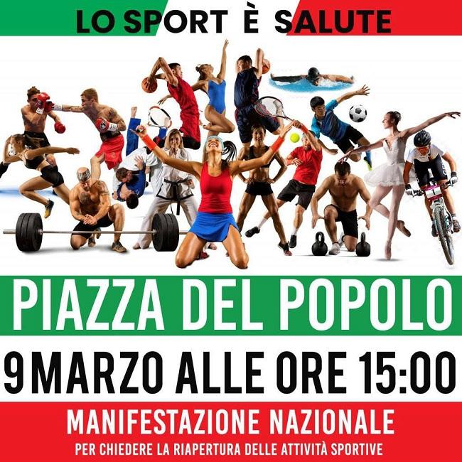 Manifestazione 9 Marzo Roma Piazza del Popolo