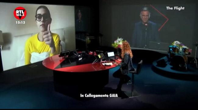 """Sanremo 2021: """"Sono afona"""", l'annuncio di Gaia a Rtl 102.5"""