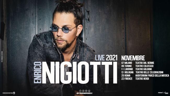 enrico nigiotti locandina tour novembre 2021