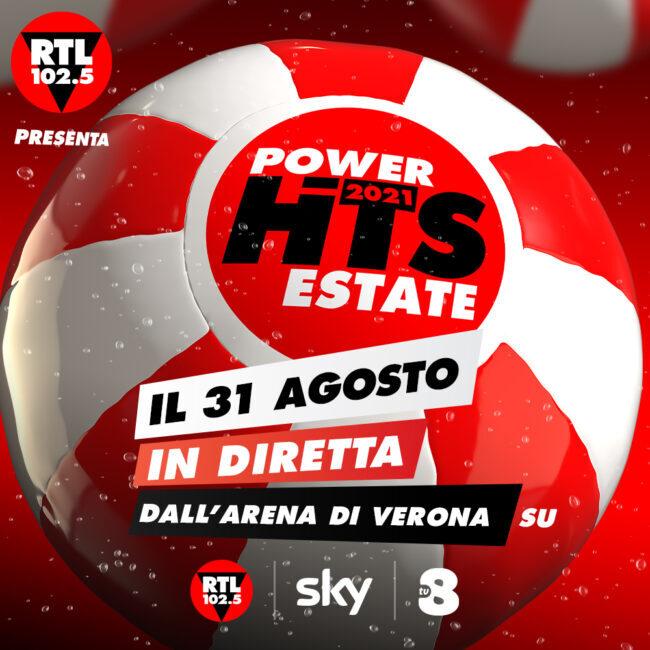 """""""Rtl 102.5 Power Hits Estate"""" il 31 agosto all'Arena di Verona, parte la classifica"""