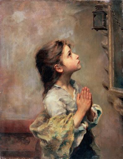 bimba che prega