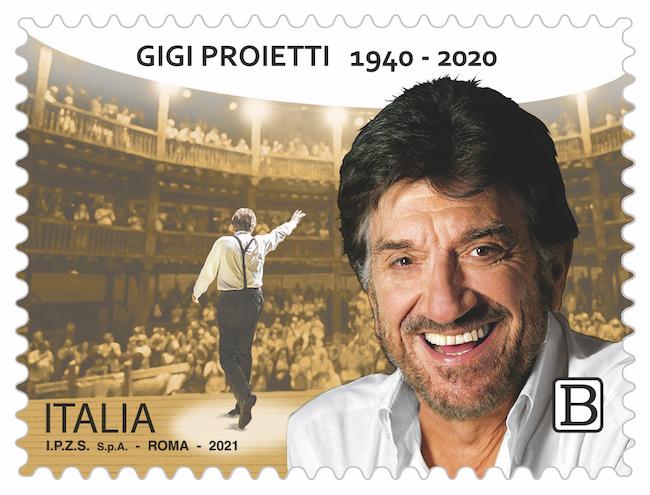 francobollo Gigi Proietti