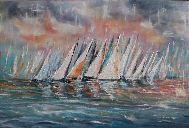 tramonto sulla regata