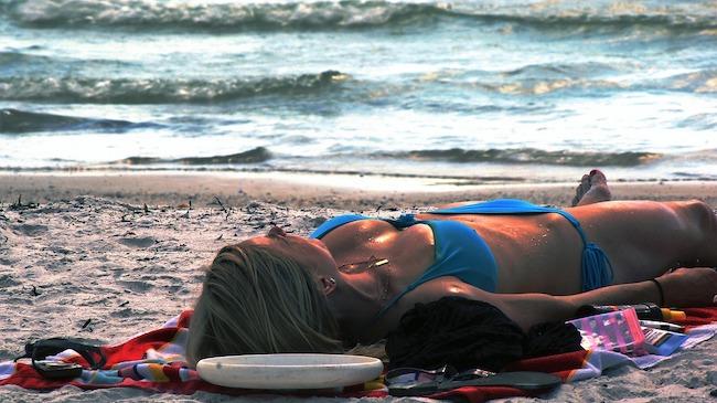 beach modella
