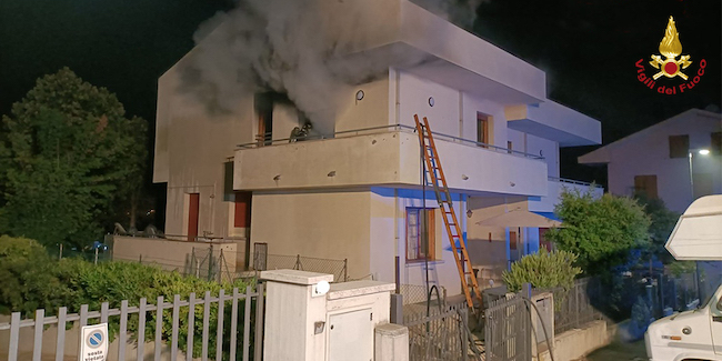 incendio residenza