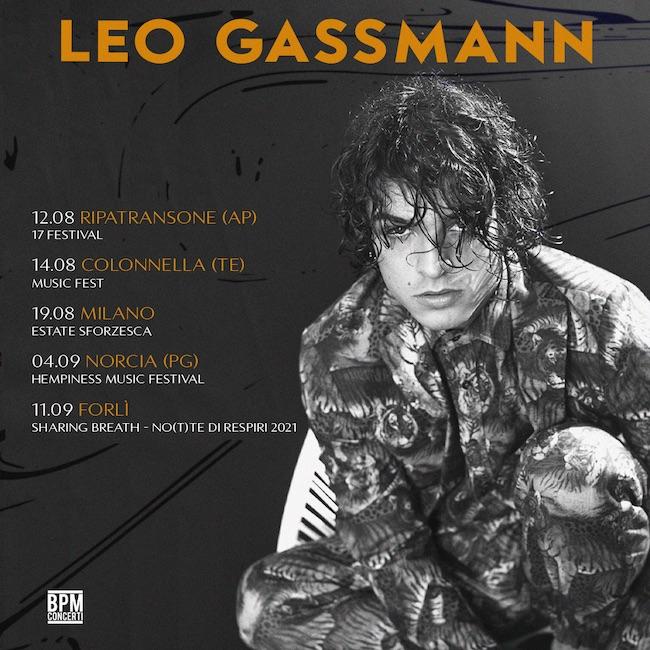 Leo Gassmann in tour: le date dei concerti estate 2021