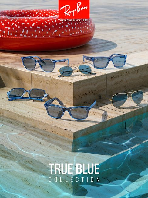 ray ban true blue