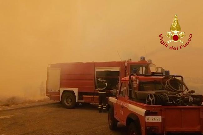 soccorsi incendi boschivi