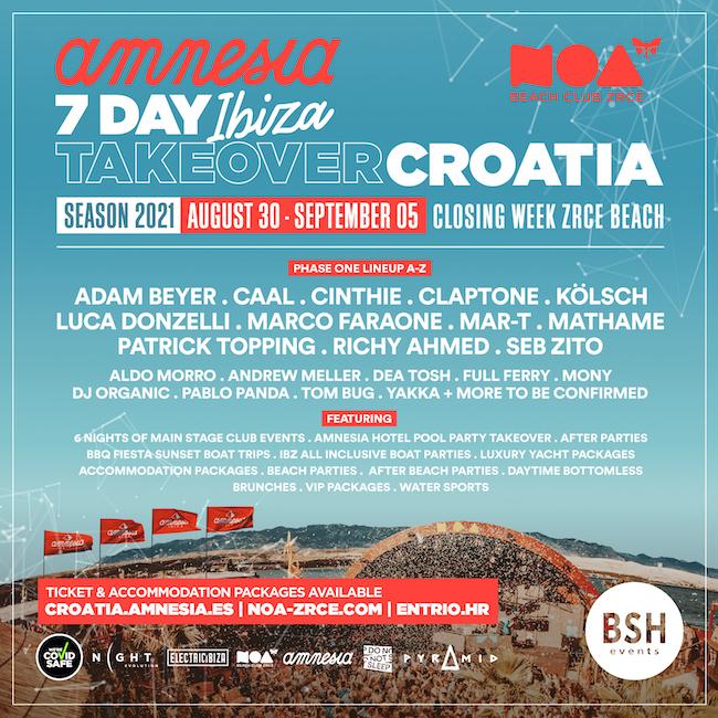 Seven Day Ibiza Take Over in Croatia