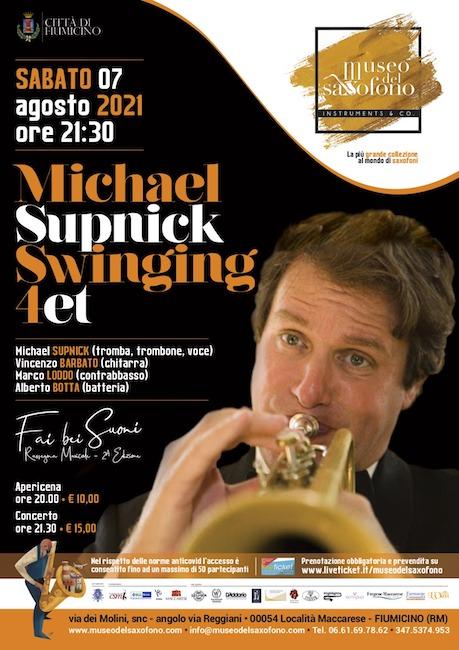Michael Supnick Swinging Quartet in concerto a Fiumicino