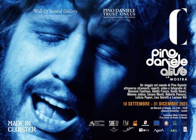 """""""Pino Daniele Alive, la mostra"""" a Napoli fino al 31 dicembre"""