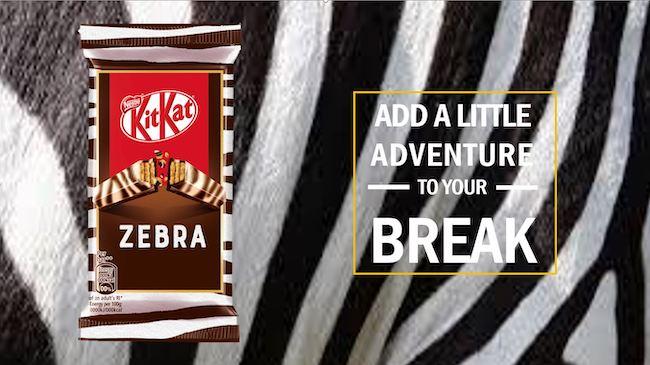 kitkat zebra wall