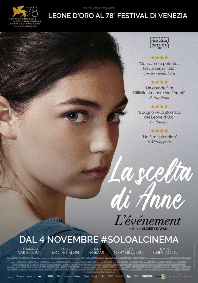 """""""La scelta di Anne"""", Leone d'Oro a Venezia, dal 4 novembre al cinema"""