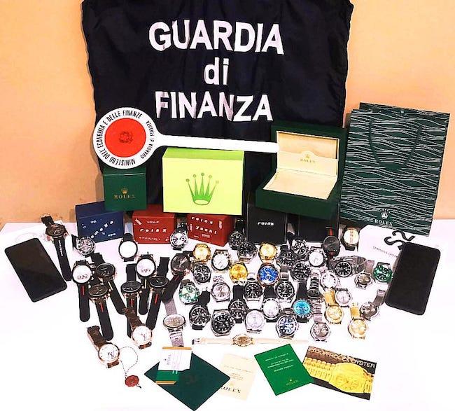 orologi di lusso sequestrati