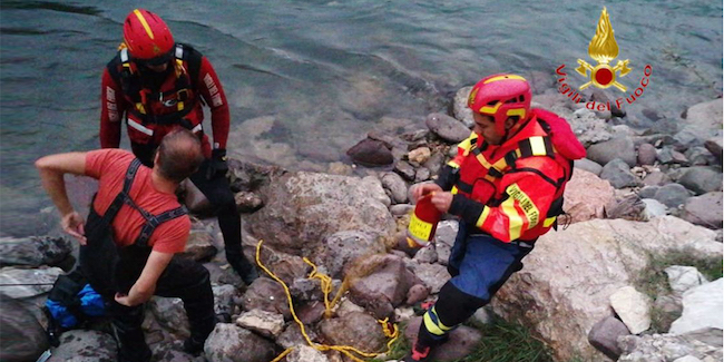 VdF Verona, salvato un pescatore dalle acque dell'Adige