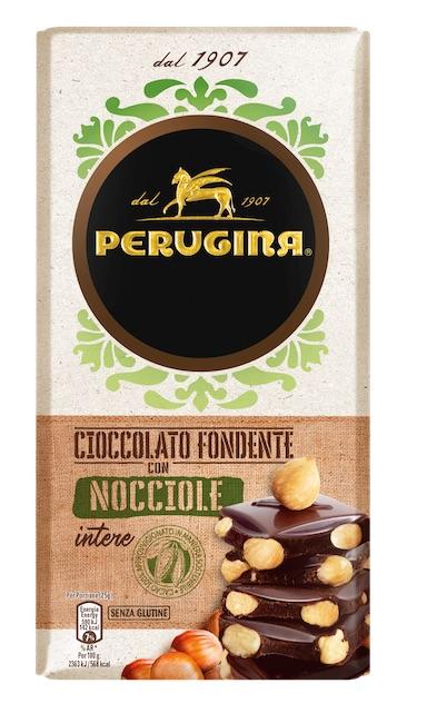 Tavolette al cioccolato con mandorle e nocciole da Perugina 1907