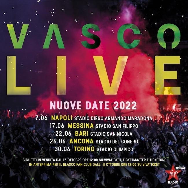 vasco live 2022 nuove date